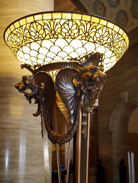 Dragon motif lamp, Missouri State Capitol Building.