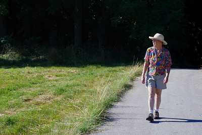 Rita hiking at Lost Hill, north of Springfield. July 1, 2010.