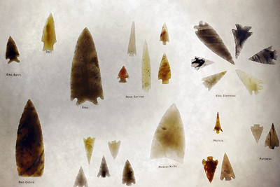 Translucent points. Museum of Native American History, Bentonville, Arkansas.