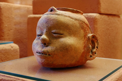 Mississippian Head Pot. Museum of Native American History, Bentonville, Arkansas.