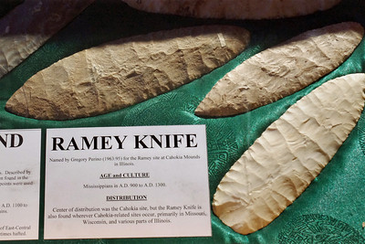 These Ramey Knife flints are awesome; on display at the Museum of Native American History, Bentonville, Arkansas.