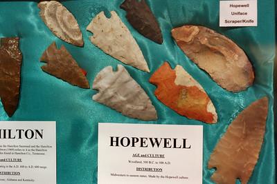 Hopewell points, Museum of Native American History, Bentonville, Arkansas.