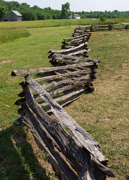 Split rail fence, Nathan Boone Homestead State Historical Site, near Ash Grove, Missouri. May 2012