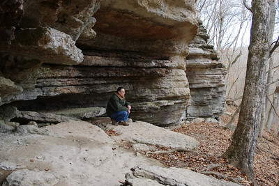 Gary, Devil's Kitchen Trail, Roaring River State Park, near Cassville, Missouri.