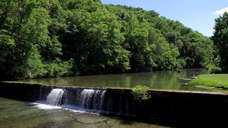 Short video of fly fishing below the mill dam at the Rainbow Trout Ranch resort, Rockbridge, Missouri.
