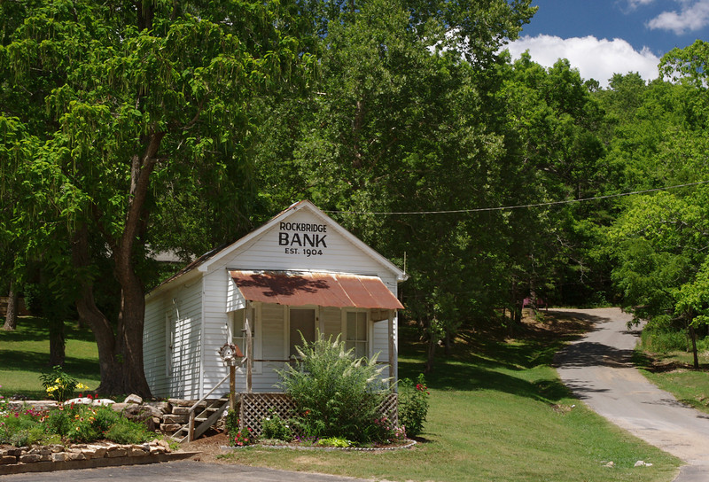 Rainbow Trout Ranch Bank; Rockbridge, Missouri.