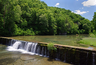 Mill dam, on Spring Creek, a tributary of Bryant Creek. Rainbow Trout Ranch; Rockbridge, Missouri.