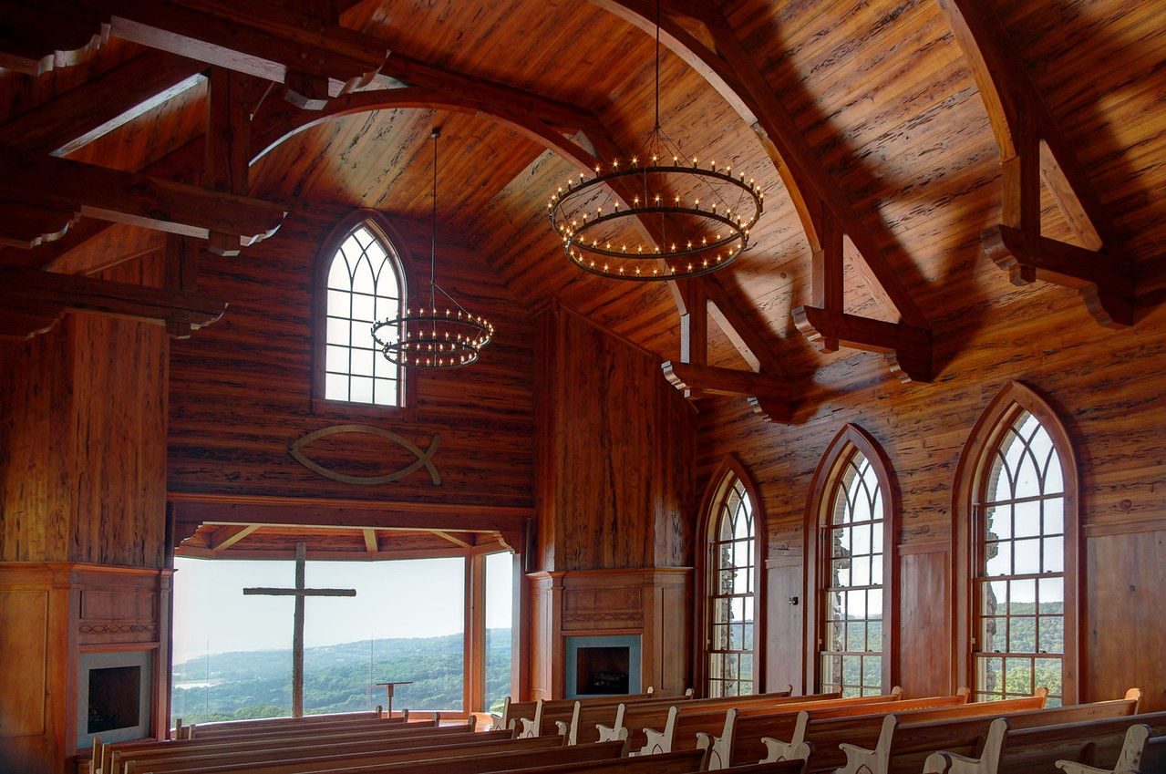 Chapel of the Ozarks, interior. Top of the Rock, near Branson, Missouri.