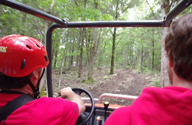 "This short video shows part of the ATV trail back to the zip lines. To return to the photos, look in the upper right hand corner for the ""X"" link."