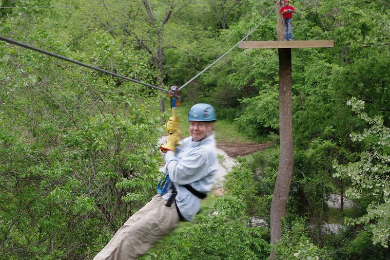 Rita, zipping through the treetops.