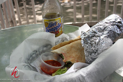 Felafel in PIta with Harisa ( hot sauce) and diet Snapple..so... NYC!