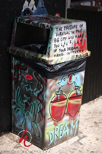 Trash cans New York style