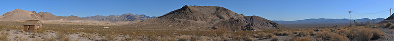Pano of upper Rhyolite, NV.