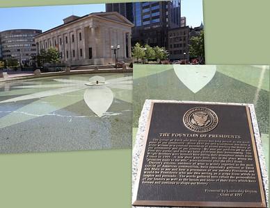 The Fountain of Presidents, Downtown Dayton, Ohio