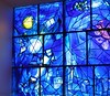 Witraz Chagalla w Art Institute w Chicago.<br /> <br /> Chagall's stained glass at the Art Institute of Chicago.