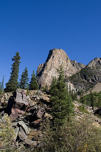 The Tower of Babel, right beside Moraine Lake.