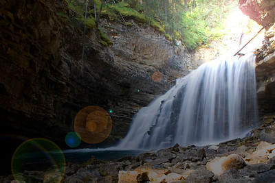 Lots of waterfalls in Johnston's Canyon