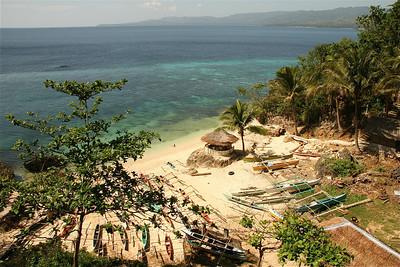 Het haventje bij Coco White Beach. Anda, Bohol, de Filipijnen.