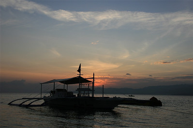 Sunset in Anda. Bohol, de Filipijnen.