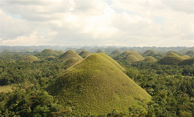 De Chocolate Hills. Bohol, de Filipijnen.