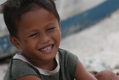 Zand in mijn oren. Anda, Bohol, de Filipijnen.