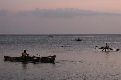 Concurrentie op zee! Anda, Bohol, de Filipijnen.