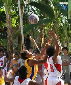 Serieuze competitie tussen de bananenbomen. Siquijor, de Filipijnen.