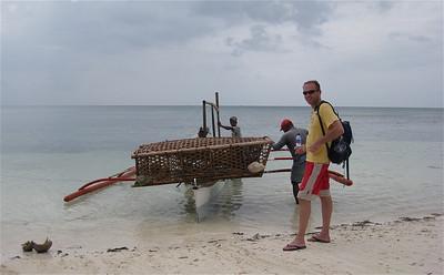 Vissers in Anda maken zich klaar voor vertrek. Anda, Bohol. de Filipijnen.