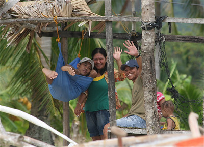 De gulle lach van de Filipino's. Anda, Bohol, de Filipijnen.