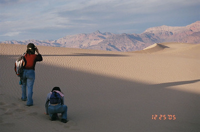 Taking pictures, Death Valley National Park, CA