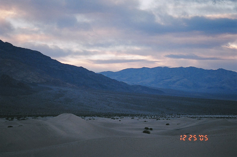 Sunset in the wilderness, Death Valley National Park, CA