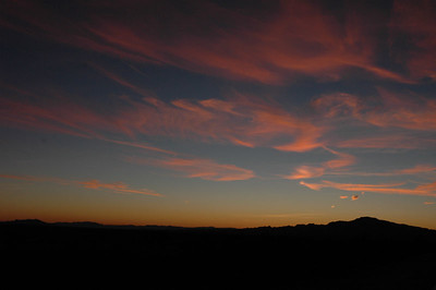 Sunset leaving Mohave National Preserve, CA