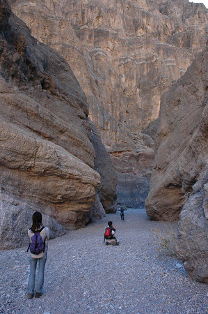 Fall Canyon Trail, narrow passage, Death Valley National Park, CA
