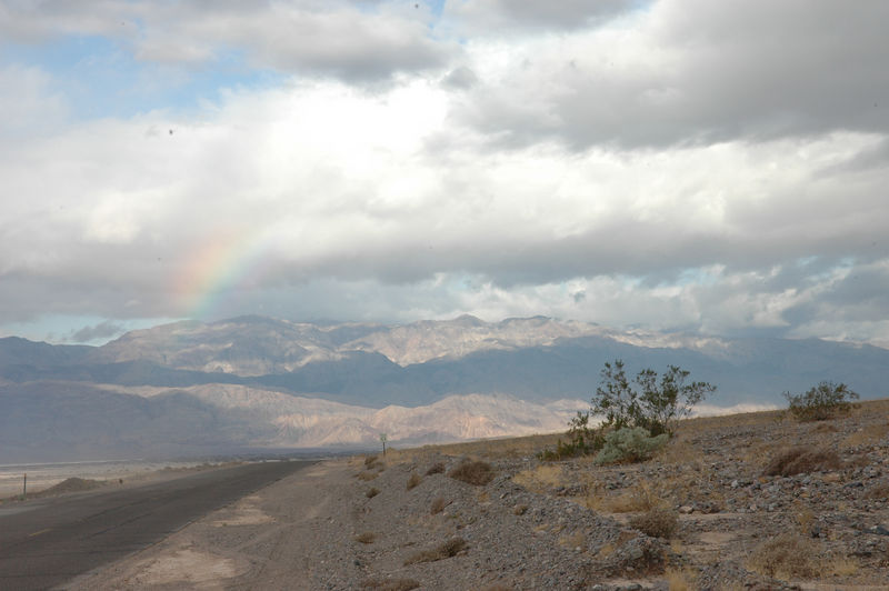 Rainbow on the way to Titus Canyon, Death Valley National Park, CA