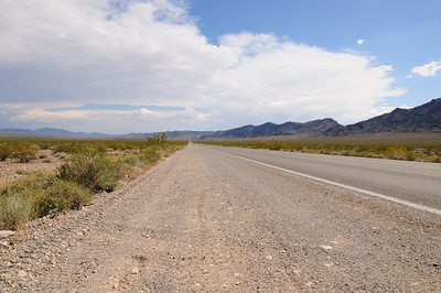 Roads stretching out to infinity...on our way to Shoshone from Pahrump and Las Vegas.