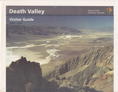 Front of one of the publications provided to visitors as they enter the park and register at the visitor's center.  The centerfold has a useful map of Death Valley.