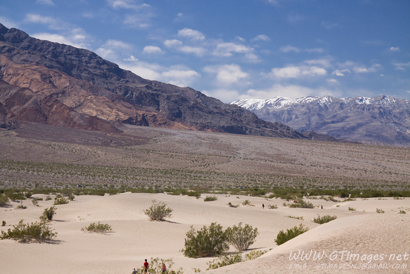 Taken from Mesquite Dunes (at Stovepipe Wells).