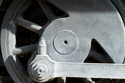 Detail of a train at the Furnace Creek Ranch mkining equipment display