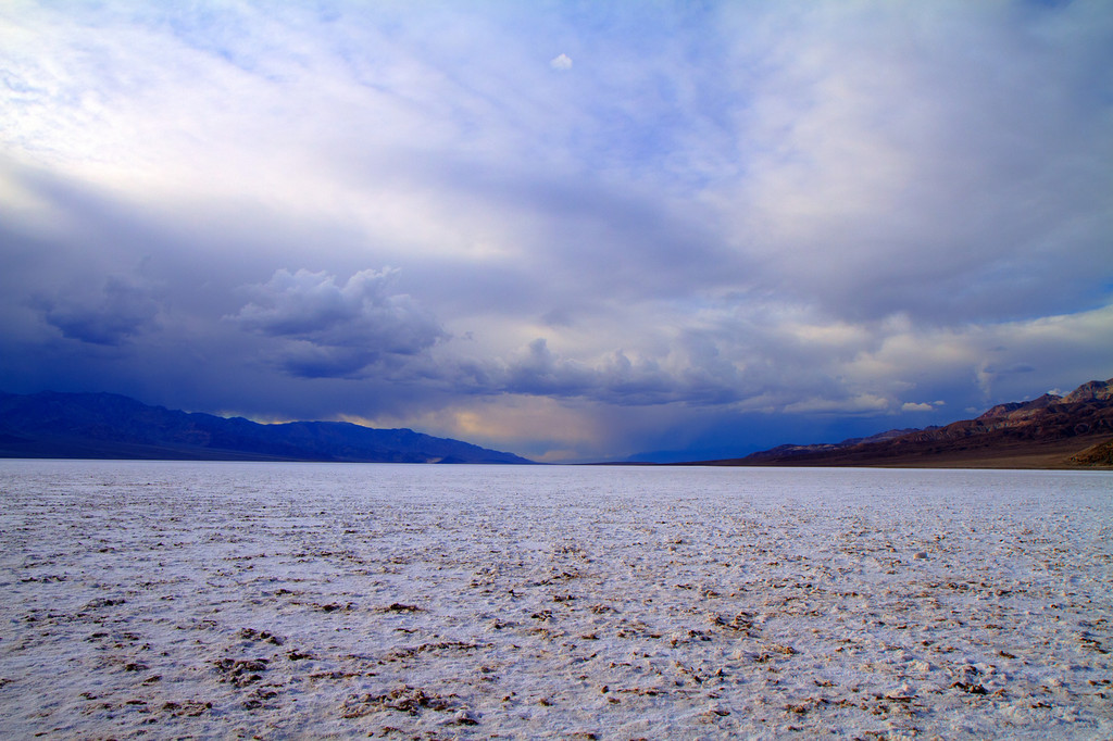 Thunderstorm over Badwater salt flat