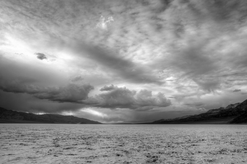 Thunderstorm over Badwater salt flats