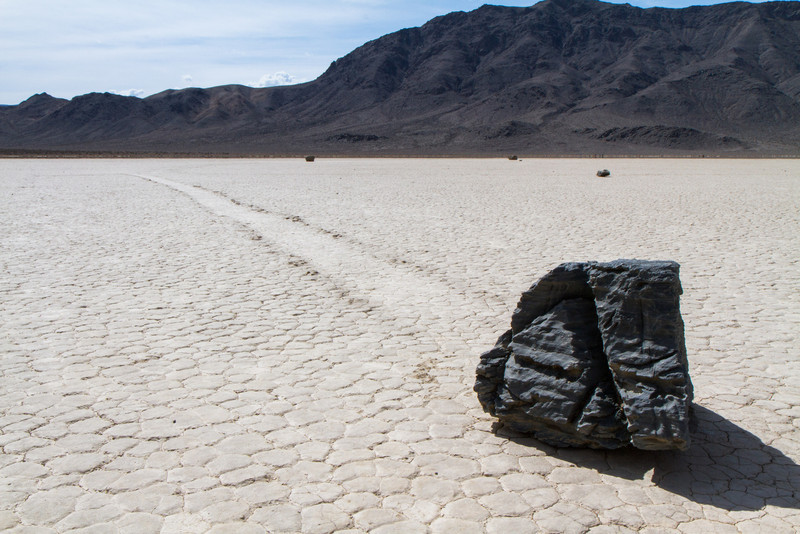 Now the Racetrack Playa rocks in color...