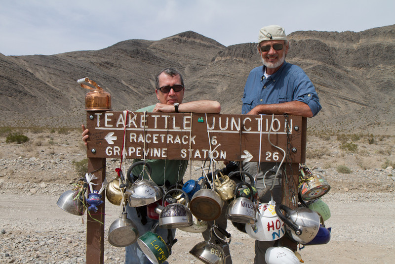 The famous Teakettle Junction, 6 miles from the Racetrack. I have no clue why it's called Teakettle Junction, but am positive what the result of that name has been