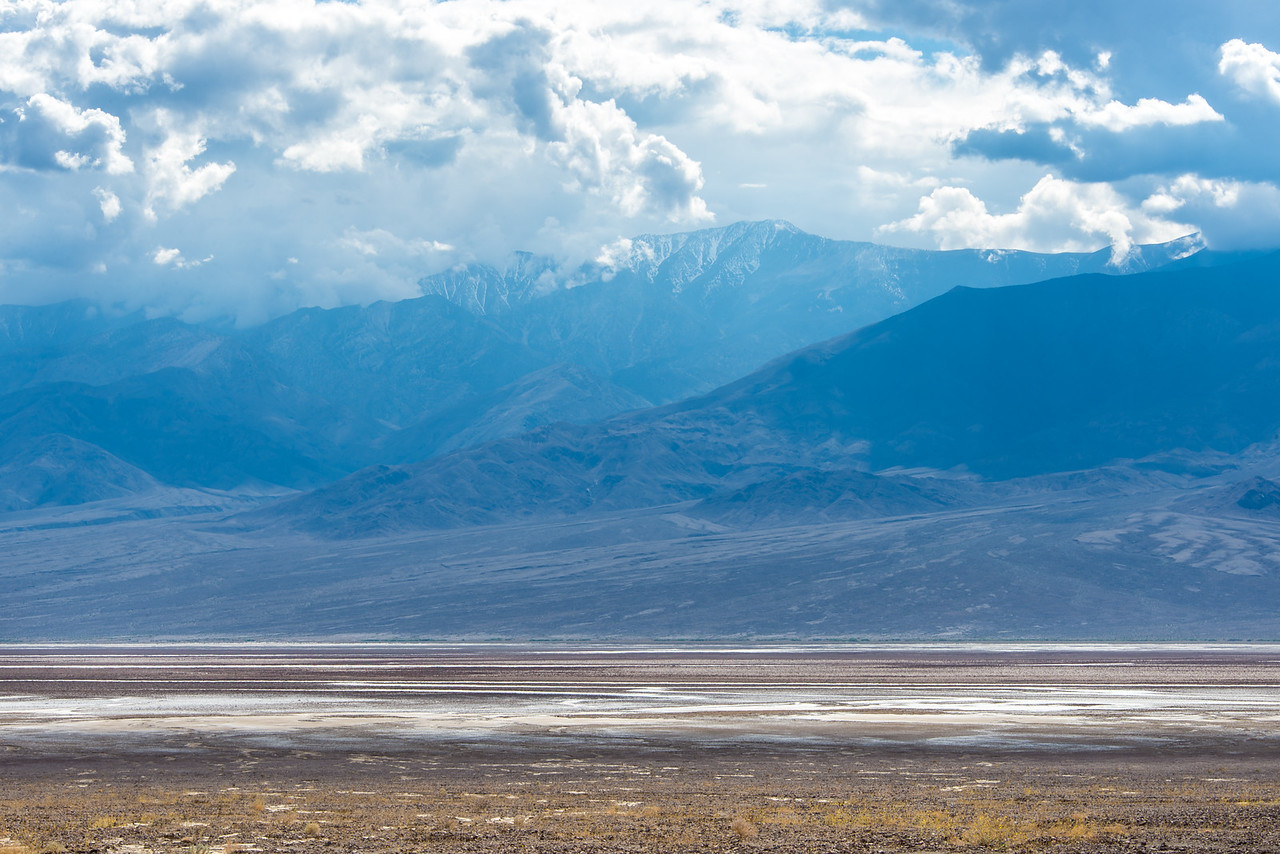 Distant view of Telescope Peak in Death Valley National Park, California - April 2016