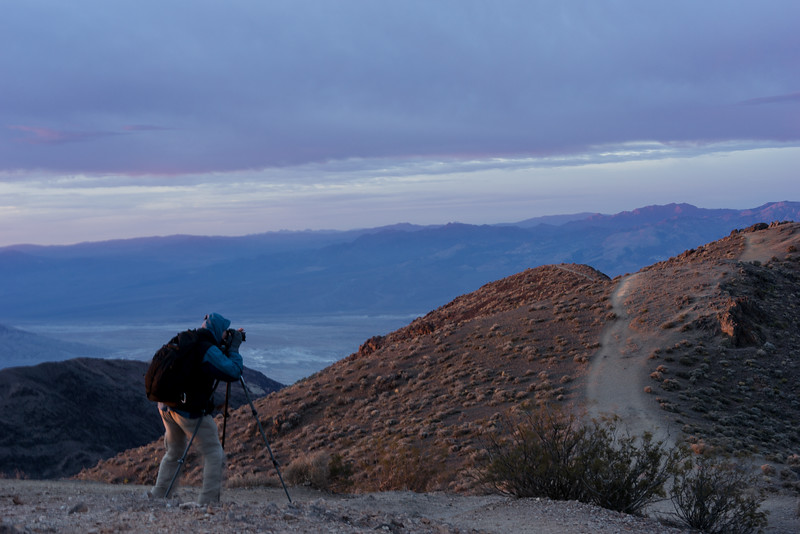 John Linder shooting toward Death Valley from Dante's View.
