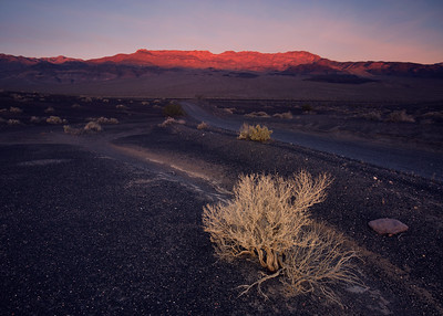 Dawn on the road to Ubehebe Crater