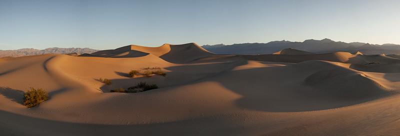 7-shot pano of Mesquite Sand Dunes