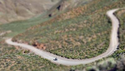 Titus Canyon Motorbiker