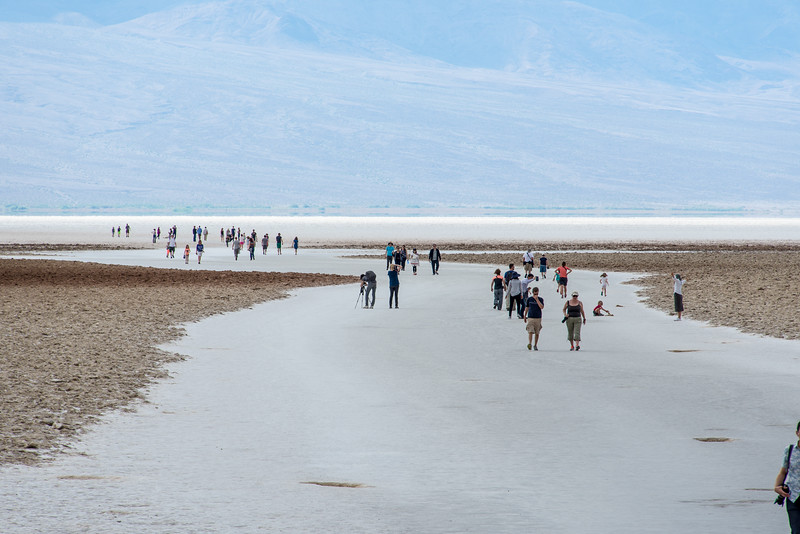 Badwater Basin in Death Valley National Park, California - April 2016