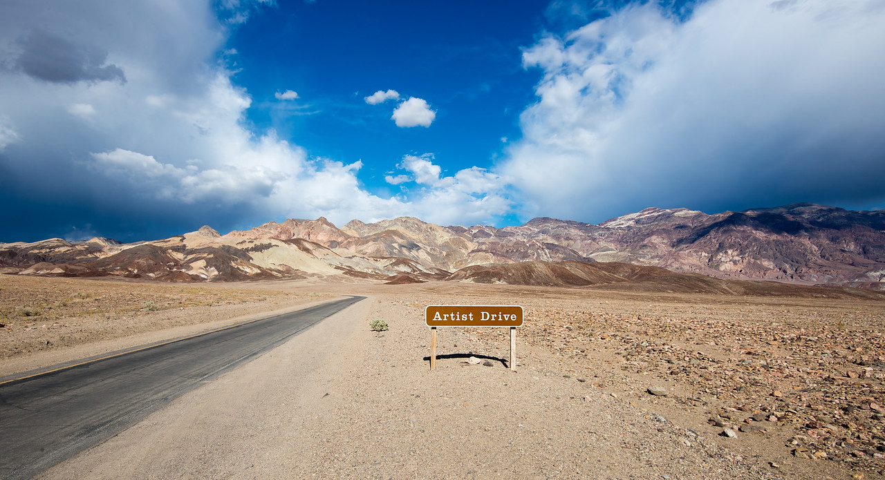 Artist Drive in Death Valley National Park, California - April 2016