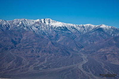 Views from Dante's viewpoint terrace in Death Valley, California.